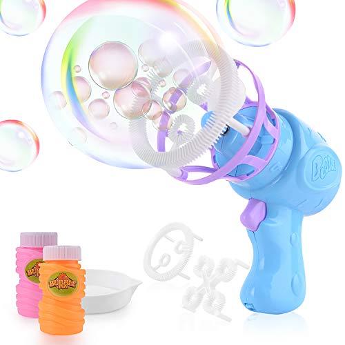 FORMIZON Bubble Maschine Pistole, Seifenblasenmaschine für Kinder, Riesenseifenblasen Spielzeug...