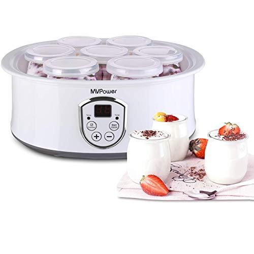 MVPower Joghurtbereiter elektrischer Joghurt-Maker joghurtmachine mit LCD...