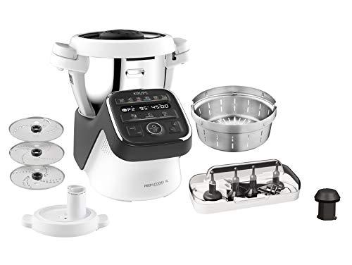 Krups HP50A8 Prep&Cook XL Multifunktions-Küchenmaschine, 1550, Edelstahl, 3 liters, Weiß/Schwarz