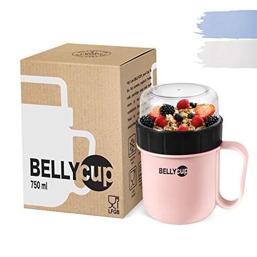 BELLYCUP Müslibecher To Go - BPA-frei – Ihr praktischer Müsli Becher für unterwegs – in Grau,...