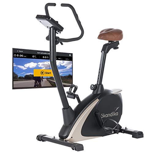 Skandika Ergometer Vinneren Design Hometrainer | Fitness Fahrrad mit Magnetbremssystem, 11kg...
