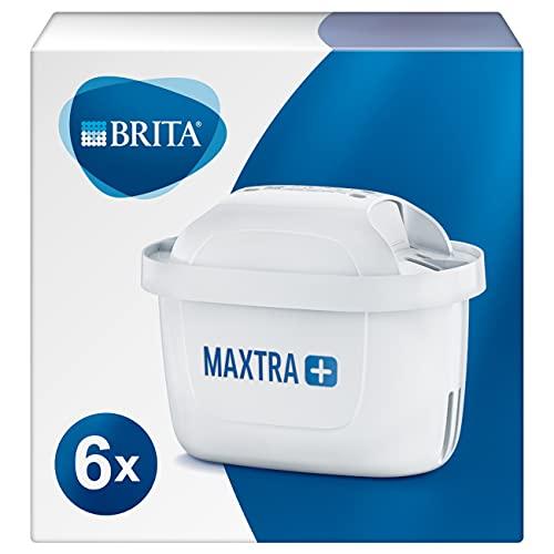BRITA 1023128 Wasserfilter-Kartusche MAXTRA+ 6er Pack – Kartuschen für alle BRITA Wasserfilter...
