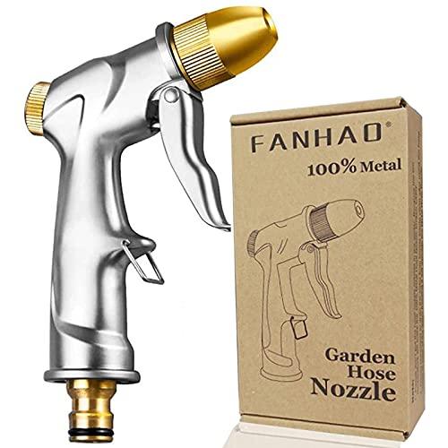 FANHAO Garten Handbrause Hochdruck Gartenbrause/Garten-Spritzpistolen-Ganz metall-Verstellbarer...