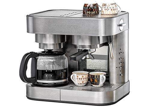 ROMMELSBACHER Kaffee/Espresso Center EKS 3010 - Filterkaffeemaschine, Glaskanne, Siebträger,...