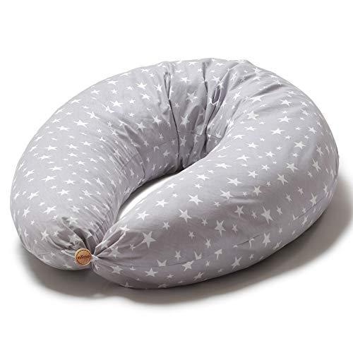 Niimo Stillkissen Schwangerschaftskissen zum schlafen groß XXL erwachsene mit Bezug aus 100%...