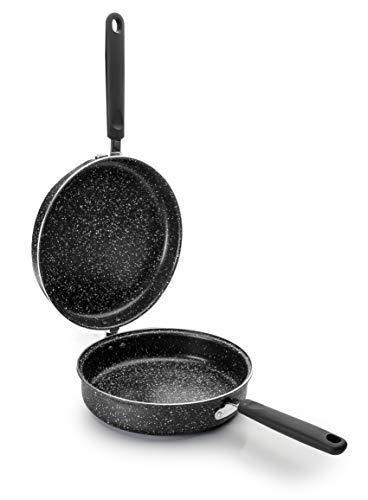 Ibili Omelettpfanne Natura 24 cm, Edelstahl, schwarz