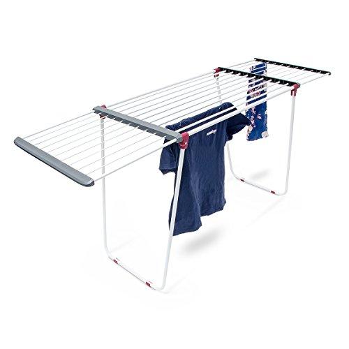 Relaxdays Trockenständer, ausziehbar, aus Stahl, Trockenlänge ca. 18 m, Wäscheständer, HxBxT:...