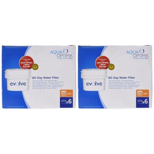 Aqua Optima Evolve 2-Jahre-Packung, 12 x 60-Tage-Wasserfilter - Für *BRITA Maxtra (nicht *Maxtra+)...