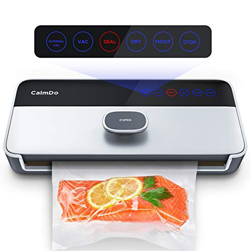 CalmDo Vakuumiergerät Vollautomatisch CD-V001 Vakuumierer für Trockene und Feuchte Lebensmittel...