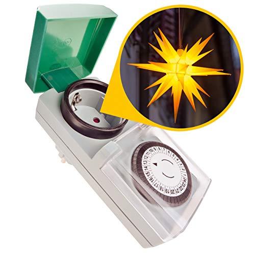 Zeitschaltuhr Aussenbereich - Zauberhafter Lichterglanz automatisch geregelt – Zeitschaltuhr...