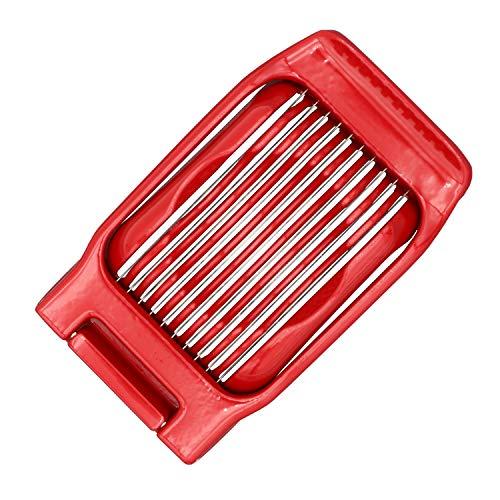 Kitchen Ninja - Eierschneider (rot), Vollmetall-Konstruktion mit Retro-Design (auch geeignet für...