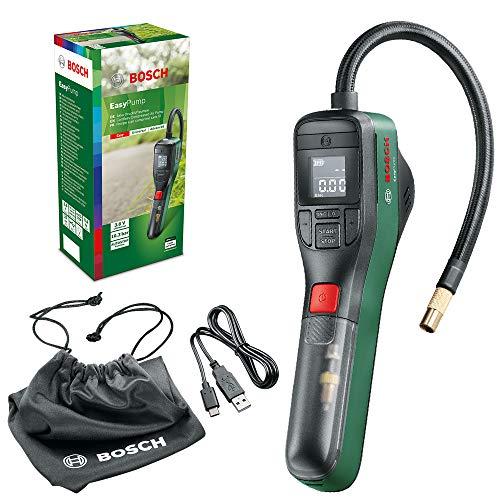 Bosch Home and Garden 603947000 elektrische Luftpumpe Mini Kompressor EasyPump (3,0 Ah Akku, 3,6...