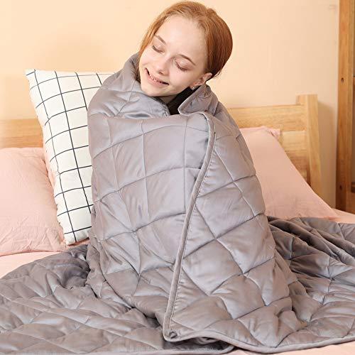 jaymag Gewichtsdecke 135 x 200cm 7kg Therapiedecke für Erwachsene Kinder Schwere Decke für...