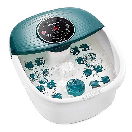 Fußbad / Badmassagegerät mit Wärme, Blasen und Vibration, digitaler Temperaturregelung, 16...