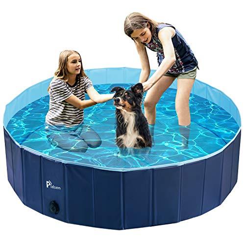 Pidsen Hundepool Swimmingpool PVC tragbare Faltbare Hunde Katzen Bad Wanne Badewanne Waschbad...