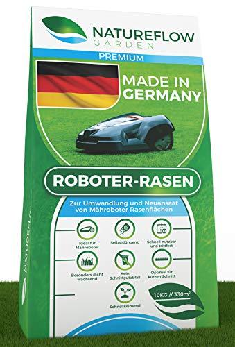 Premium Rasensamen für Mähroboter 10kg Made in Germany - Roboter Grassamen - Schnellkeimend und...