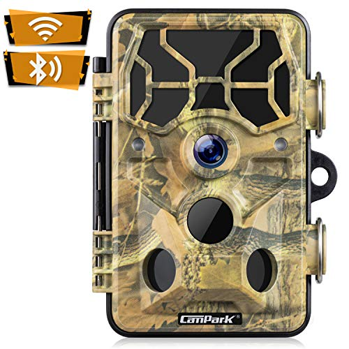 Campark WiFi Wildkamera 20MP 1296P Upgrade Bluetooth, WLAN mit Bewegungsmelder Nachtsicht Wildlife...