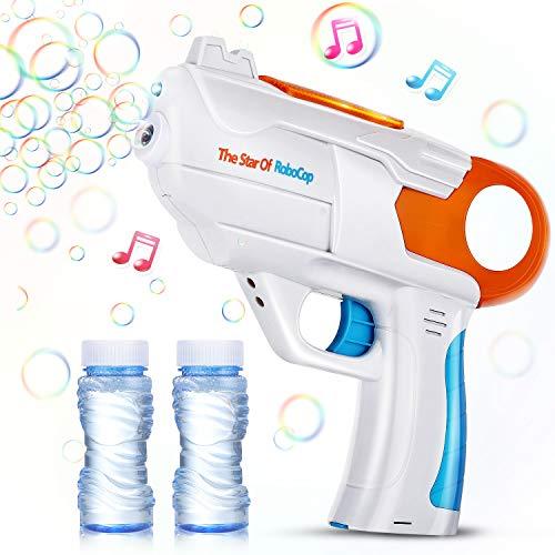 EPCHOO Seifenblasenpistole, LED Seifenblasen Pistole mit Sound Bubble Gun Bubble Maschine Pistole...