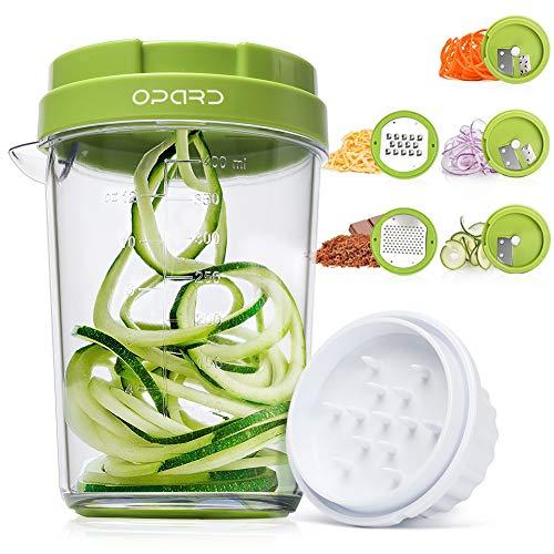 Opard Spiralschneider 5 in 1 Gemüsespaghetti Gemüse Gemüseschneider, Gemüsehobel für Karotte,...