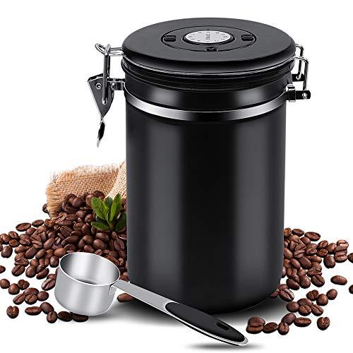 Kaffeedose Luftdicht Kaffeebehälter Edelstahl Aromadose Vorratsdose Kaffeebohnenbehälter...