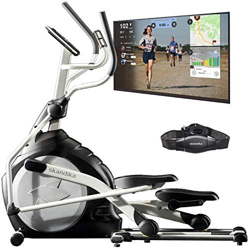 skandika Crosstrainer CardioCross Carbon Pro Ellipsentrainer mit 23,5kg Schwungmasse und...