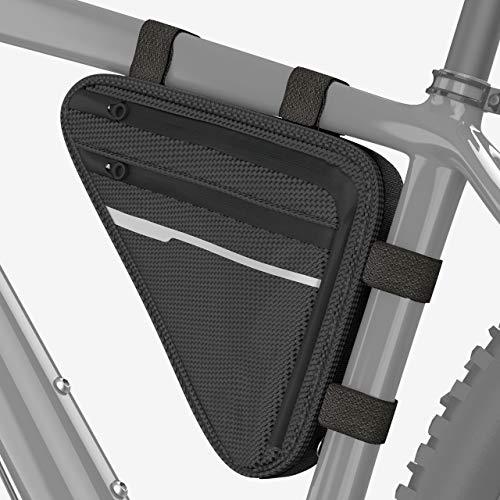 Velmia Fahrrad Dreiecktasche [Wasserdicht] - Fahrradtasche Rahmen, Triangeltasche ideal für...