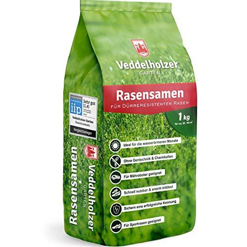 Veddelholzer Rasensamen dürreresistent für Trockenrasen & Schattenrasen Samen Grassamen...
