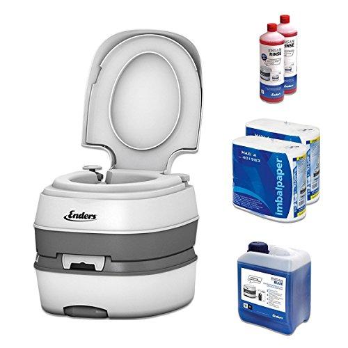 Campingtoilette Starter-Set Blue 5,0 Enders Deluxe [ 4994 ]: inkl. Sanitärflüssigkeit und WC...