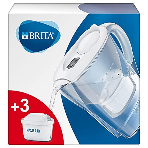BRITA S0760 Wasserfilter Marella weiß inkl. 3 MAXTRA+ Filterkartuschen – BRITA Filter...