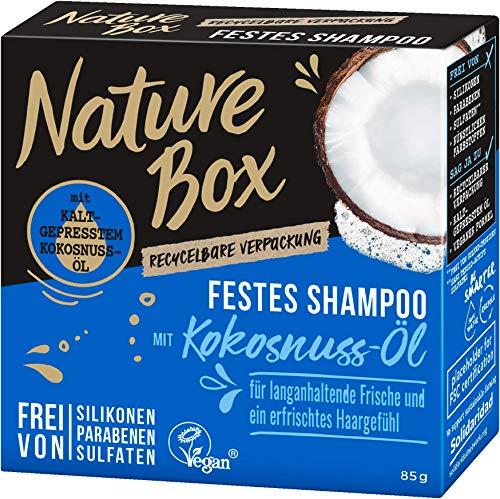 NATURE BOX Fest-Shampoo Kokosnuss-Öl, 1er Pack (1 x 85 g)