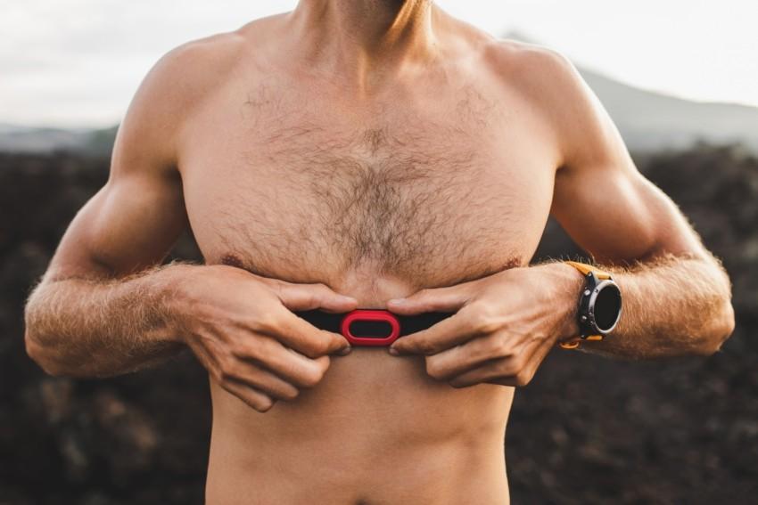 Brustgurt für einen Crosstrainer