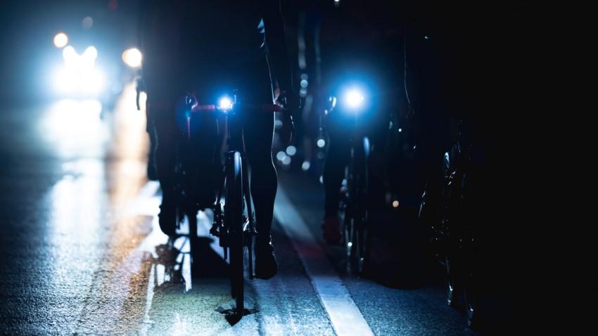 Die Fahrradlampe im Einsatz