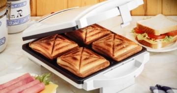 Der Sandwichmaker im Einsatz