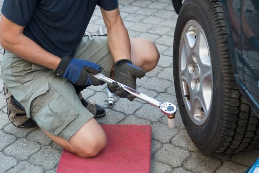 Der Drehmomentschlüssel für ein Fahrrad