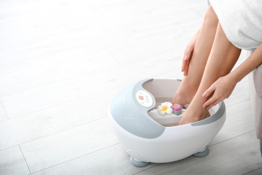 Der Test eines Fußmassagegerätes