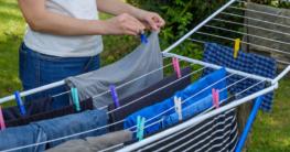 Der Test eines Wäscheständers