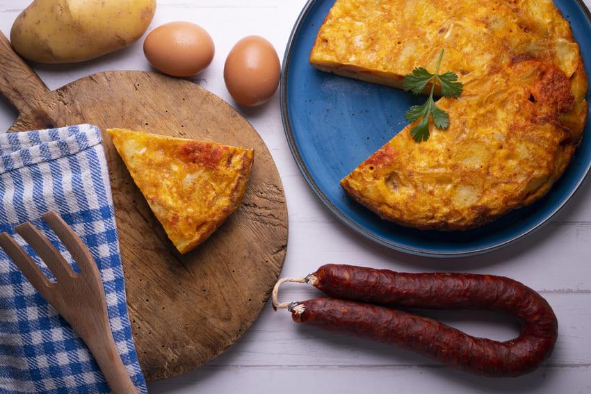 Ein Omelett aus dem Wendepfannen Testsieger